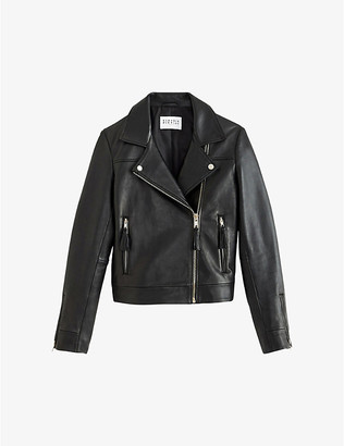 Claudie Pierlot Castel leather biker jacket