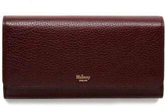 Mulberry Continental Wallet Oxblood Natural Grain Leather