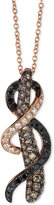 LeVian Le Vian Exotics® Tri-Tone Diamond Woven Pendant Necklace (1 ct. t.w.) in 14k Rose Gold