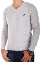 Fred Perry Men's V-Neck Long Sleeve Jumper M9256 - , L