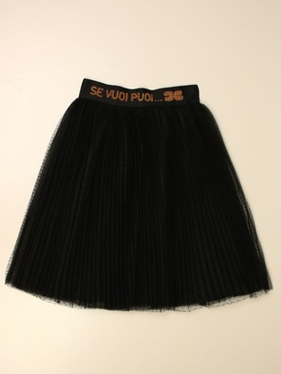 Elisabetta Franchi Skirt In Pleated Tulle
