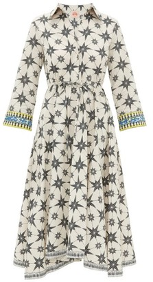 Le Sirenuse Positano Le Sirenuse, Positano - Lucy Star-print Cotton Shirt Dress - Green Print