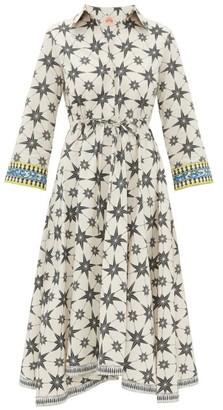Le Sirenuse Le Sirenuse, Positano - Lucy Star-print Cotton Shirt Dress - Womens - Green Print