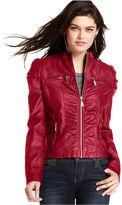 Joujou Jou Jou Juniors Ruched Faux-Leather Jacket