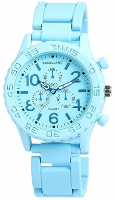 Excellanc Exce Llanc Unisex Quartz Watch with Black Dial Analogue Display Quartz Mixed Media 150723500003