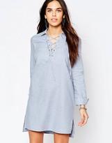 Warehouse Lace Up Tunic Dress