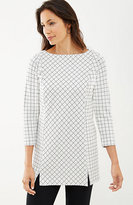 J. Jill Windowpane Ponte Knit Tunic