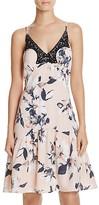 Aqua Floral Lace Trim Dress