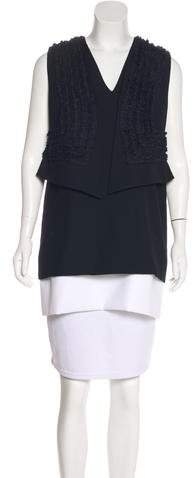 Givenchy Two-Tone Sleeveless Tunic w/ Tags