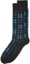 Alfani Men's Outline-Grid Socks, Only at Macy's