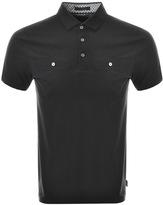 Ted Baker Shaz Polo T Shirt Black