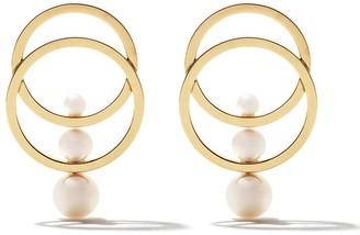 TASAKI 18kt yellow gold Cosmic Akoya pearl earrings