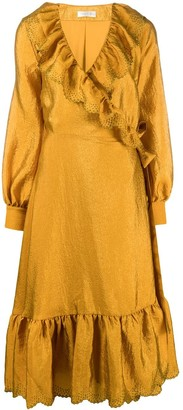 Stine Goya Steffi ruffled wrap front dress