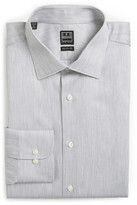 Ike Behar Long Sleeve Regular Fit Stripe Dress Shirt