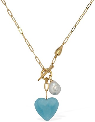Lizzie Fortunato Heart Strings Necklace
