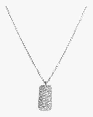 Sophie Ratner Vertical Diamond Studded Tag Necklace