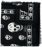Alexander McQueen Black & White skull print scarf