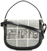 Olympia Le-Tan printed hobo crossbody bag - women - Calf Leather/Wool - One Size