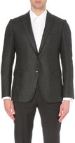 Armani Collezioni Modern-fit Textured Wool-blend Jacket