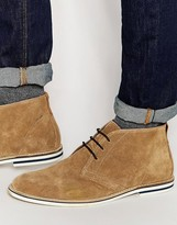 Dune Chukka Boots In Tan Suede