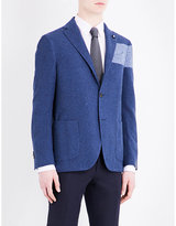 Lardini Colour Block Regular-fit Cotton-blend Jacket