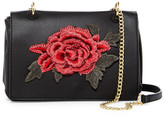 T-Shirt & Jeans Rose Patch Chain Strap Crossbody