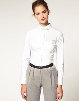 ASOS Peter Pan Collar Fitted Shirt