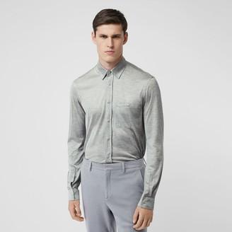 Burberry Classic Fit Silk Jersey Shirt