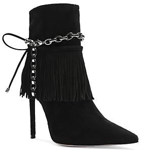 Schutz Women's Monah Fringe High Heel Booties