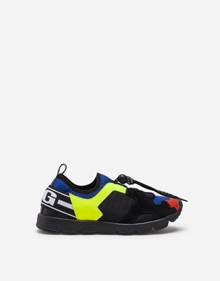 Dolce & Gabbana Sorrento Slip-On Trekking Sneakers In Mesh