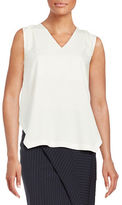 DKNY Draped Back V-Neck Shirt