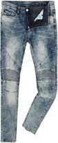 Religion Slim Fit Light Wash Biker Jeans