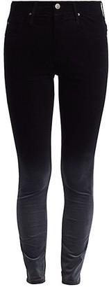 Farrah Velvet Mid-Rise Ankle Skinny Pants