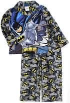 Lego Batman Boys Flannel Coat Style Pajamas (, Grey Batman)