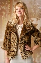 Faux Leopard Swing Coat