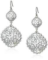 Lucky Brand Women's Silver Openwork Compass Statement Drop Earrings One Size