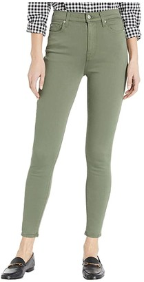 7 For All Mankind High-Waist Ankle Skinny in Solid Olive (Solid Olive) Women's Jeans