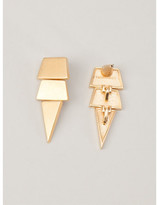Eddie Borgo large scaled triangle earrings