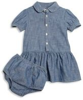 Ralph Lauren Baby's Two-Piece Chambray Shirtdress & Bloomers Set