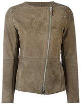 Eleventy zipped leather jacket