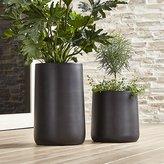 Crate & Barrel Saabira Fiberstone Planters