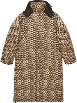 Gucci Graphic Print Padded Coat