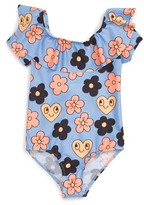Mini Rodini Toddler Girl's Flower Frill One-Piece Swimsuit