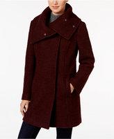 Cole Haan Envelope-Collar Textured Walker Coat