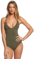 Vince Camuto Pacific Coast Double Crossback One Piece Swimsuit 8152988