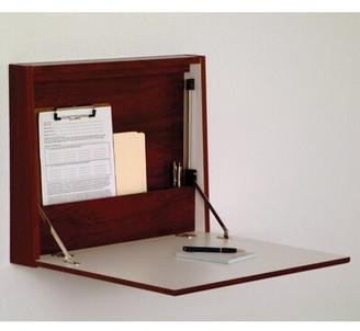 Andover MillsTM Sanner Fold-Away Floating Desk Andover Mills Color: Mahogany