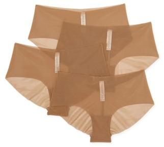 Undies.com Women's Sheer Hipster Panties, 4-Pack