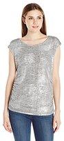Calvin Klein Women's S/L Top W/ Shoulder Buttons