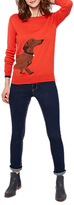 Joules Long Sleeve Intarsia Jumper, Soft Red Dachshund