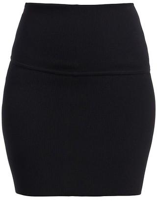 Helmut Lang Rib-Knit Mini Skirt